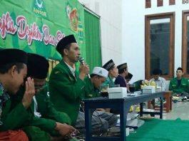 Ketua Ansor Jepara, H. Syamsu Anwar menyampaikan sambutan di agenda Sosialisasi program Kerja Ansor Jepara di PAC Keling