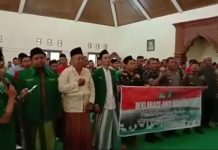 Bada Ansor Anti Narkoba di deklarasikan di sela-sela kegiatan Pelatihan Kepemimpinan Dasar di Menganti Kedung Jepara 29/11/2019
